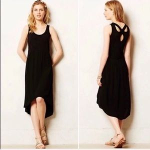 Anthro Left Of Center | Tulipan Tank Dress Blk XS